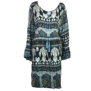 One World Womens Sheath Dress Blue Paisley Self